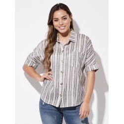 Crossroads Batwing Button Shirt - Stripe Multi - 8 found on Bargain Bro India from Rockmans for $25.34