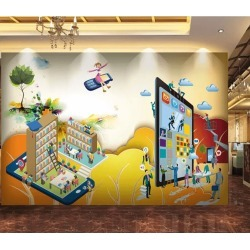 Aj Wallpaper 3d Cartoon Bookshelf 235 Wall Murals Removable Wallpaper Woven Paper - Multi - XL found on Bargain Bro Philippines from Rivers for $317.20