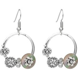 W.lane Shell Disc Hoop Earring - Natural found on Bargain Bro India from crossroads for $7.17
