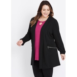 Beme Long Sleeve Ponte Jacket - Black found on Bargain Bro India from crossroads for $43.14