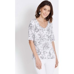 Rockmans Elbow Sleeve Soft Paisley Top - Multi - L found on Bargain Bro Philippines from Rockmans for $7.24