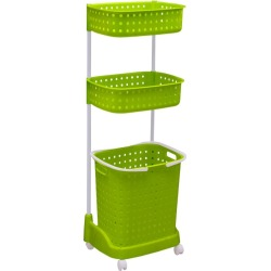 3 Tier Bathroom Laundry Clothes Basket Hamper - Green - One found on Bargain Bro India from crossroads for $39.40