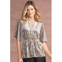 Grace Hill Crushed Velvet Top - Champagne - 10 found on Bargain Bro from Rivers for USD $29.38