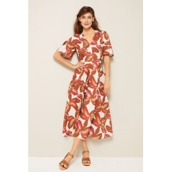 Grace Hill Linen Blend Belted Shirt Dress - Yellow Floral - 8 found on Bargain Bro Philippines from W Lane for $50.47