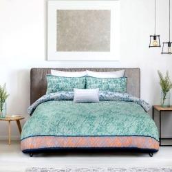 Ardor Boudoir Tangier Printed Embossed Quilt Cover Set - Multi