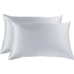 Royal Comfort Mulberry Silk Pillowcase Twin Pack - Silver - ONE found on Bargain Bro India from W Lane for $43.44