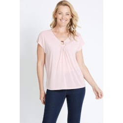 Rivers Ring Dtl Slub Tee - Soft Pink - 16 found on Bargain Bro from Noni B Limited for USD $13.81