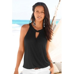Urban Wrap Front Top - Black - 8 found on Bargain Bro from BE ME for USD $11.73
