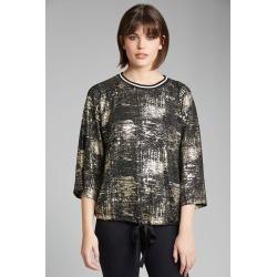 Grace Hill Metallic Sweatshirt - Black/gold - 8 found on Bargain Bro from crossroads for USD $9.09
