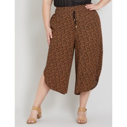 Beme Shirred Waist Mono Print Pant - Animal - 14 found on Bargain Bro India from crossroads for $18.51
