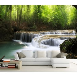Aj Wallpaper 3d Woods Stream 1069 Wall Murals Removable Wallpaper Self-adhesive Vinyl - Multi - XXXL found on Bargain Bro from Rockmans for USD $288.65