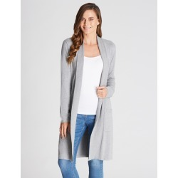 Rivers Longline Edge To Edge Cardigan - Grey Marle - M found on Bargain Bro from crossroads for USD $14.90