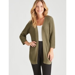 Rockmans 3/4 Sleeve Button Side Cardi - Cedar - XS found on Bargain Bro from Noni B Limited for USD $17.05