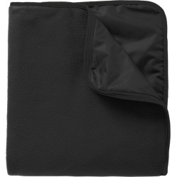 Port Authority Fleece & Poly Travel Blanket - Black/ Black - Black/ Black - one found on Bargain Bro India from Rockmans for $29.90