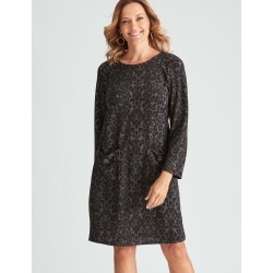 Millers Long Sleeve Brushed Knit Dress - Animal Brushed - 22 found on Bargain Bro from Katies for USD $11.83