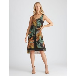 Rockmans Woven Layer Dress - Black Palm - 14 found on Bargain Bro India from W Lane for $15.55