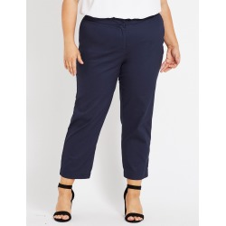 Beme Ankle Tapered Stretch Twill Pant - Navy - 16 found on Bargain Bro from Rockmans for USD $12.02