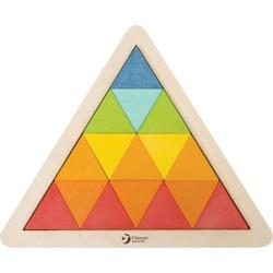 Classic World Puzzle Blocks - Triangle Mosaic - Multi