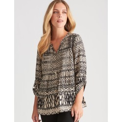 Rockmans Long Sleeve Pintuck Shirt - Multi - 22 found on Bargain Bro India from Rockmans for $19.43