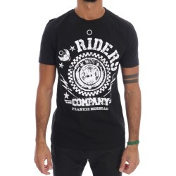 Frankie Morello Black Cotton Riders Crewneck T-shirt - S found on MODAPINS from Noni B Limited for USD $114.72