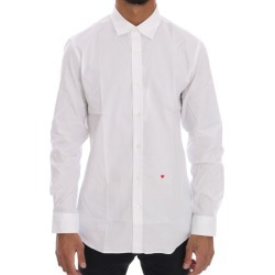 Moschino White Cotton Stretch Slim Fit Dress Shirt - 40 found on Bargain Bro India from W Lane for $182.64