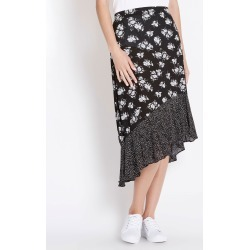 Rockmans Neutral Floral Ruffle Skirt - Multi - 10 found on Bargain Bro India from W Lane for $11.66