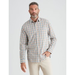 Rivers Long Sleeve Triple Check Shirt - Pine/rust/grey - Pine/rust/grey - 4XL found on Bargain Bro from Rockmans for USD $16.94
