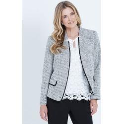 Liz Jordan Long Sleeve Fringe Trim Textured Jacket - Black - 16 found on Bargain Bro from Noni B Limited for USD $49.90