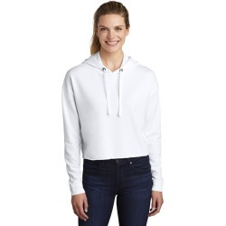 Sport-tek Ladies Posicharge Tri-blend Wicking Fleece Crop Hooded Pullover Lst298 - White Triad Solid - 3XL found on Bargain Bro Philippines from Noni B Limited for $38.35