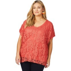 Beme Cap Sleeve Pleat Lace Top - Mango - XS found on Bargain Bro India from BE ME for $15.43