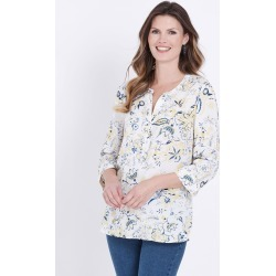 W.lane All Over Floral Print Blouse - Yellow Multi - 10 found on Bargain Bro Philippines from Rockmans for $40.54