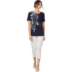 W.lane Floral Placement Top - French Navy - XS found on Bargain Bro from BE ME for USD $19.72