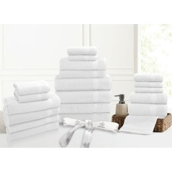 Kingtex 20 Piece 100% Cotton Bathtowel Set - White - One found on Bargain Bro from Noni B Limited for USD $24.24