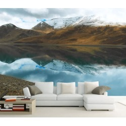 Aj Wallpaper 3d Snow Mountain River 1048 Wall Murals Removable Wallpaper Self-adhesive Vinyl - Multi - XXL found on Bargain Bro from Rockmans for USD $288.65