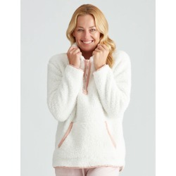 Rivers Fluffy Zip Up Sleep Top - Ivory - 8/10 found on Bargain Bro India from W Lane for $27.08