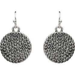 Crescent Circle Earring - Silver - One Size found on MODAPINS from BE ME for USD $9.22