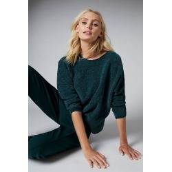 Emerge Chenille Batwing Sweater - Green - L found on Bargain Bro from crossroads for USD $18.17