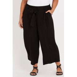 Beme Crop Wide Leg Pant - Black - 18 found on Bargain Bro India from BE ME for $44.72
