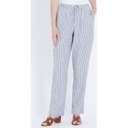 W.lane Linen Full Length Pant - French Navy Stripe - 8 found on Bargain Bro India from W Lane for $17.41