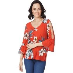 Rockmans 3/4 Ring Sleeve Poppy Florish Top - Multi - XL found on Bargain Bro India from BE ME for $15.43