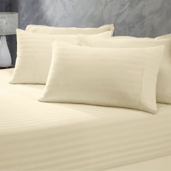 Royal Comfort 1200tc Cotton Stripe Fitted Combo Sheet Sets - 3 Piece - Sand - Double found on Bargain Bro from Noni B Limited for USD $38.74