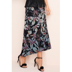 Grace Hill Frilled Chiffon Skirt - Black Floral - 8 found on Bargain Bro Philippines from crossroads for $36.80