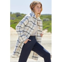 Capture Wool Blend Brushed Check Coat - Charcoal Check - 16 found on Bargain Bro from crossroads for USD $73.26