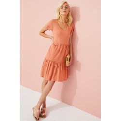 Emerge Organic Cotton Tiered Dress - Coral - 12 found on Bargain Bro from crossroads for USD $16.41