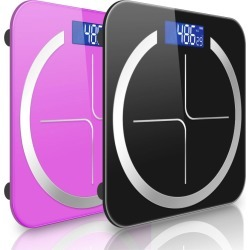 Soga 180kg Digital Fitness Weight Bathroom Scales 2pack - Black/pink - ONE found on Bargain Bro from Noni B Limited for USD $37.51