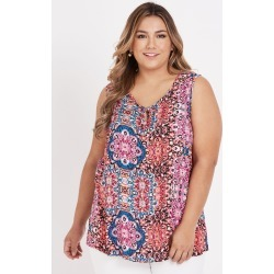 Beme Slvless Multi Print Top - Pink Print - 14 found on Bargain Bro Philippines from BE ME for $11.07