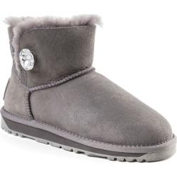 Ozwear Ugg Womens Classic Mini Button Whth Swarovski Boots - Grey - EU39 / AU9L found on Bargain Bro from Rockmans for USD $67.76