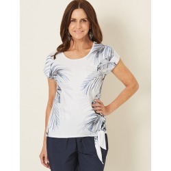 Millers Extended Sleeve Placement Print Top - Border Ombre Palm Pr found on Bargain Bro Philippines from crossroads for $5.74