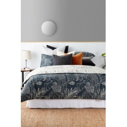 Mossman Duvet Cover Set - Soft Black - Single found on Bargain Bro India from Rockmans for $100.65