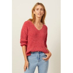 Emerge Chenille V Neck Sweater - Rose - XS found on Bargain Bro India from Noni B Limited for $35.83